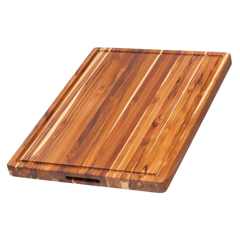 teakhaus wooden cutting board 00810996010156 the home depot. Black Bedroom Furniture Sets. Home Design Ideas