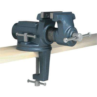 CBV-100, Super-Junior 4 in. Vise with Clamp-On Swivel Base