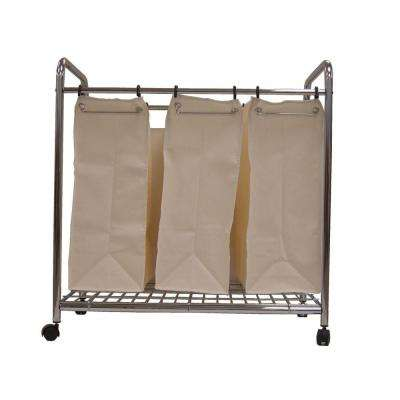 3-Section 30 in. Laundry Sorter