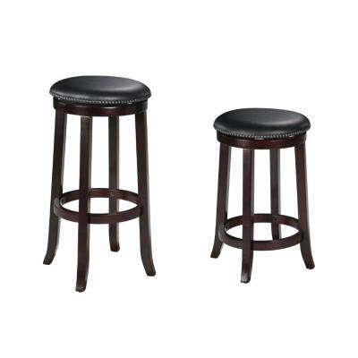 Chelsea 24 in. Espresso Counter Height Stool (Set of 2)