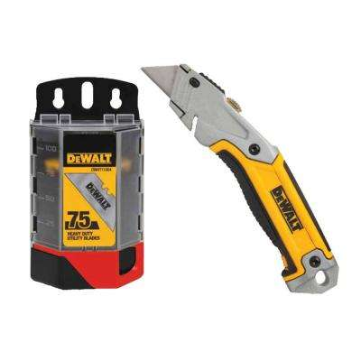 Retractable Utility Knife with Free Blades (75-Pack)