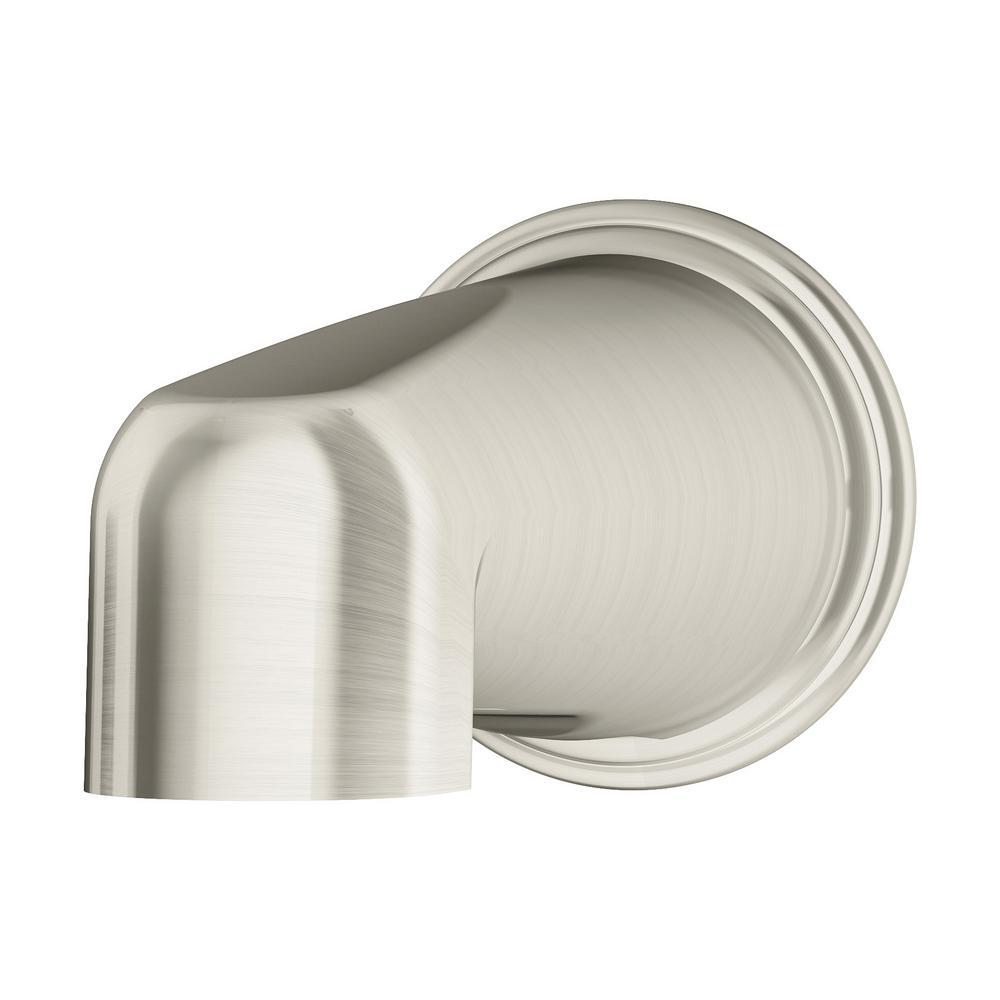 Elm 5-7/8 in. Non-Diverter Tub Spout in Satin Nickel