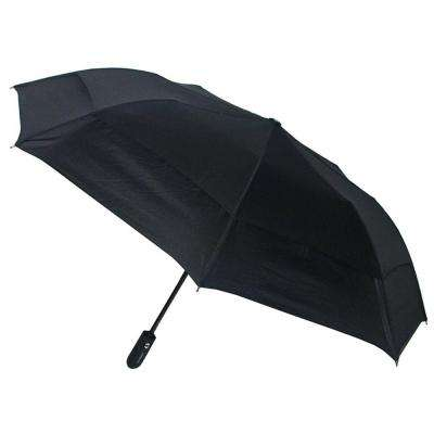46 in. Arc Windguard Auto Open Auto Close Sport Umbrella in Black