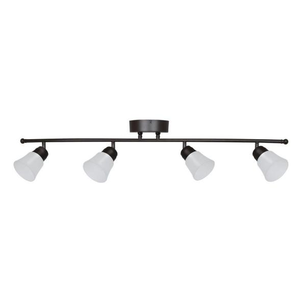 Walton 4-Light Oil-Rubbed Bronze LED Fixed Track Lighting