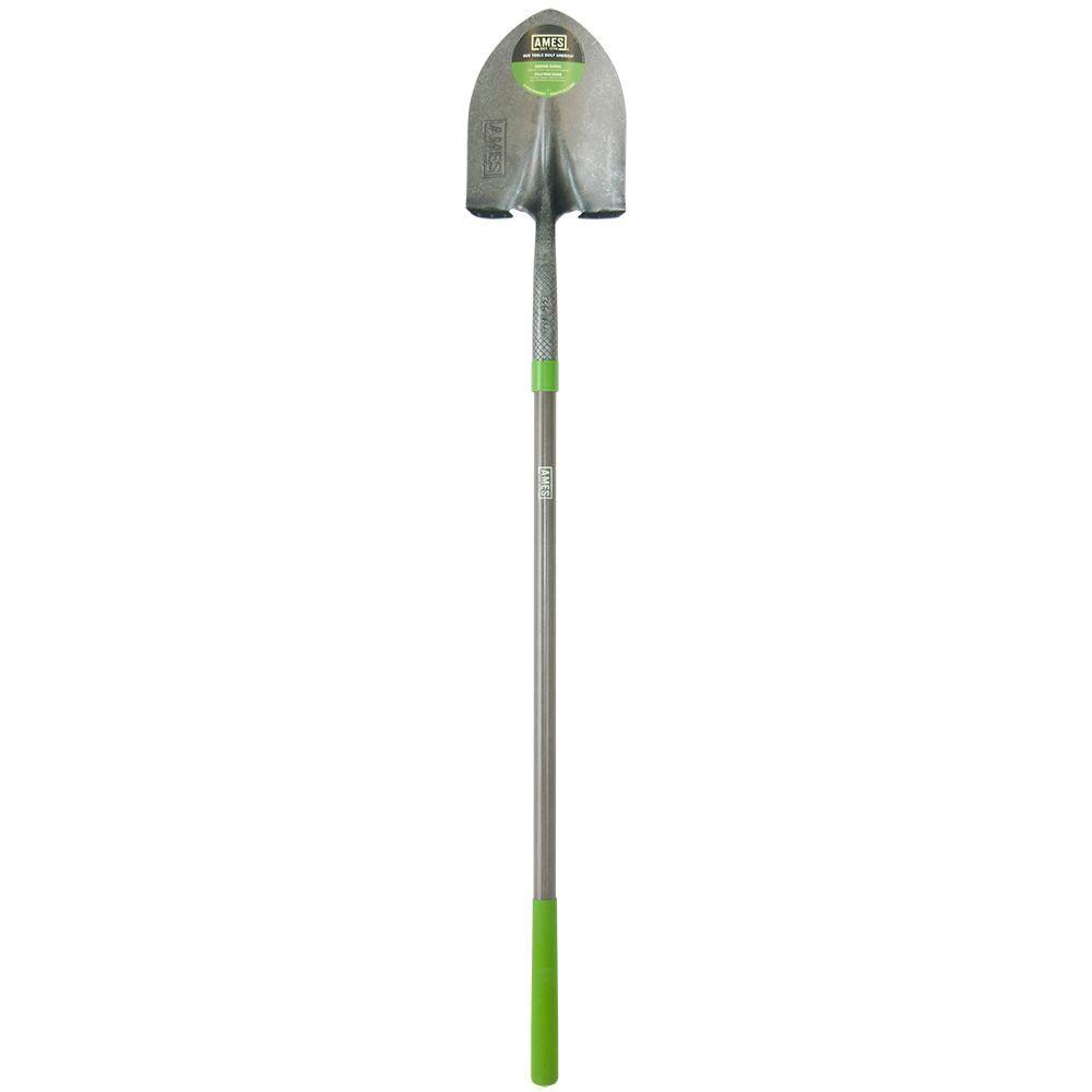 46.5 in. Fiberglass Handle Digging Shovel with Comfort Step