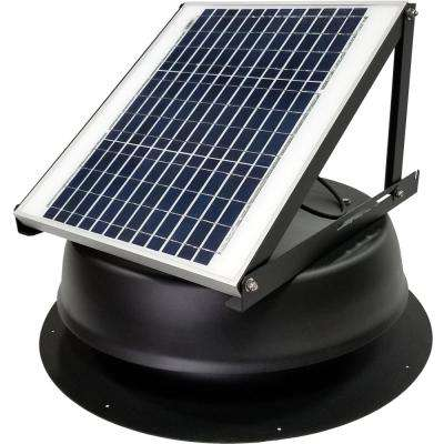 20-Watt 1275 CFM Ultra-Low Profile Black Solar Powered Attic Fan