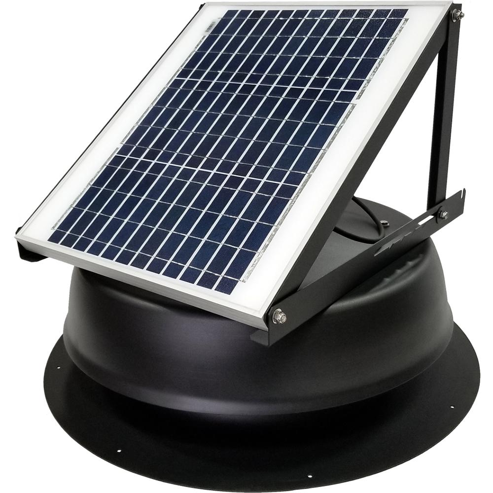 Powered Vent Fan Attic Fans Vents Ventilation The Home Depot Switch All Installations 20 Watt 1275 Cfm Ultra Low Profile Black Solar