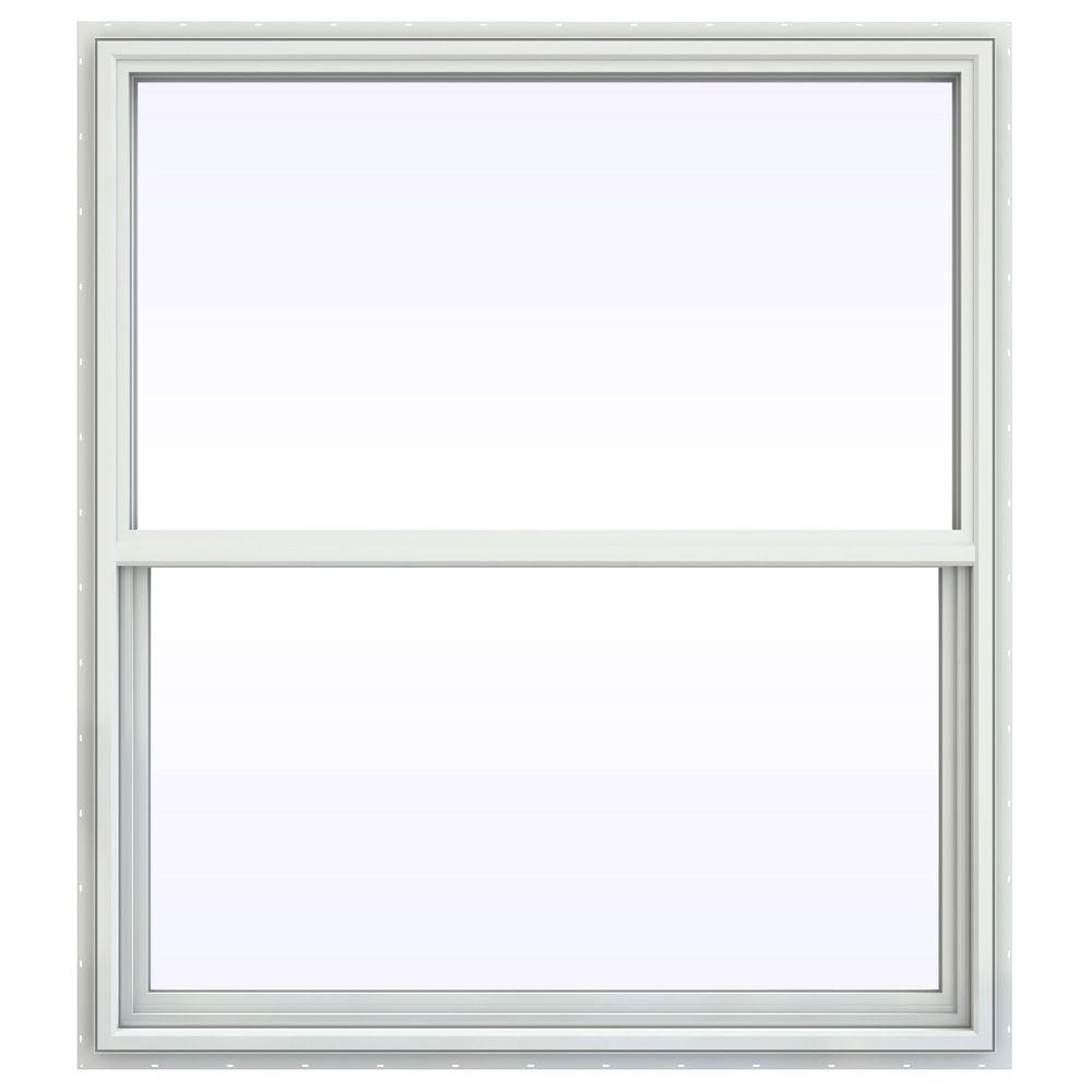 JELD-WEN 47.5 in. x 47.5 in. V-4500 Series Single Hung Vinyl Window - White