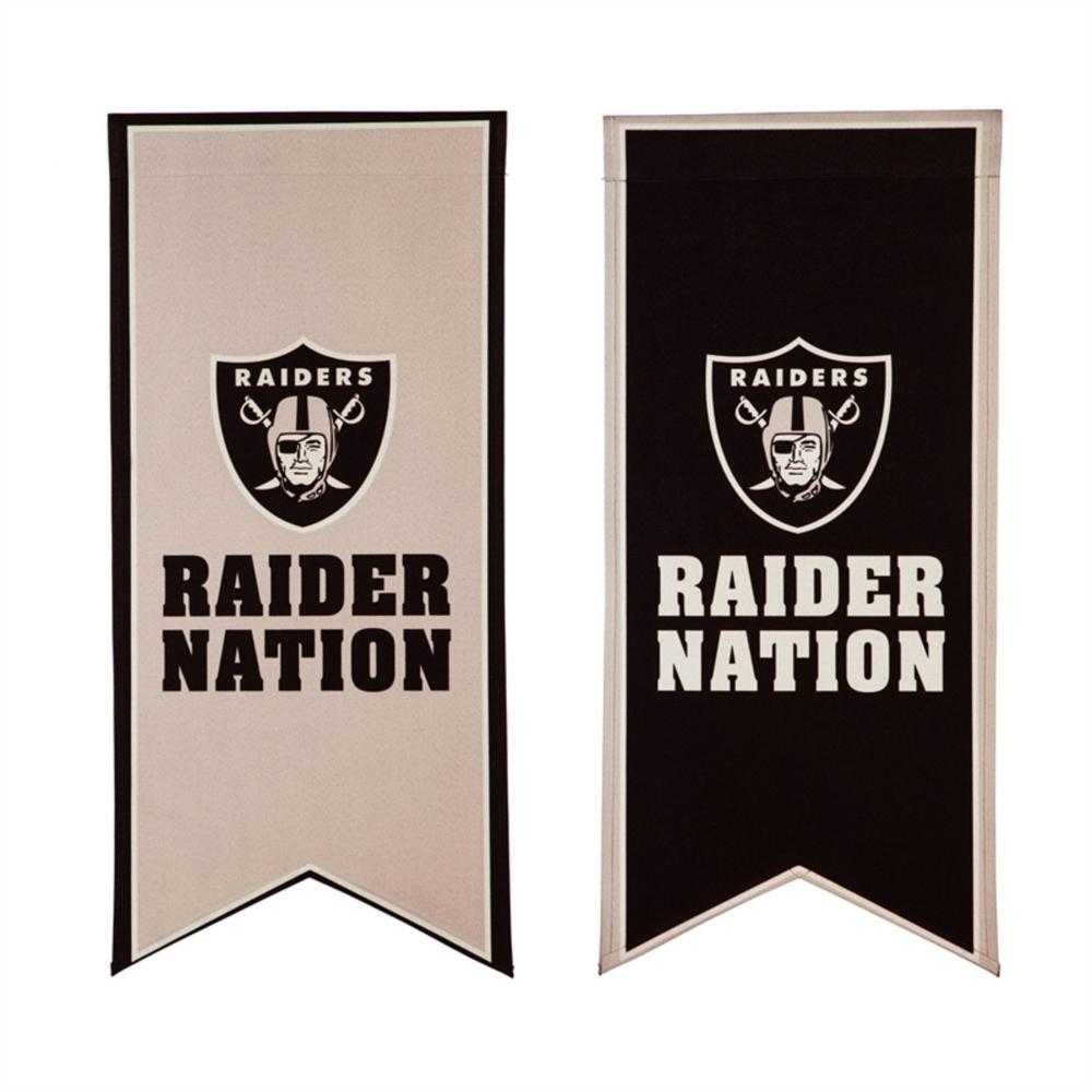 Evergreen 12 5 In X 28 In Las Vegas Raiders Garden Banner Flag 14lb3822xl The Home Depot