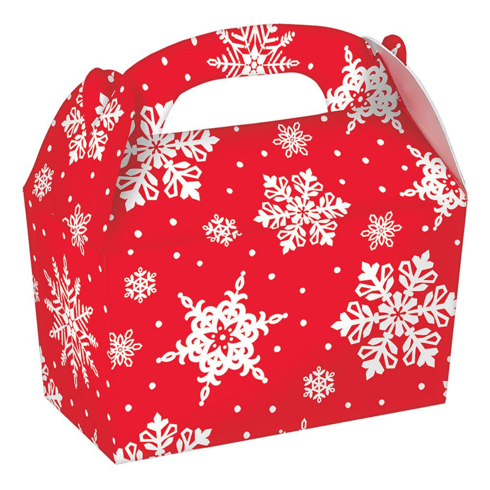 Christmas Boxes.Amscan 4 25 In X 4 5 In X 2 25 In Christmas Snowflake Paper Gable Box 5 Count 4 Pack