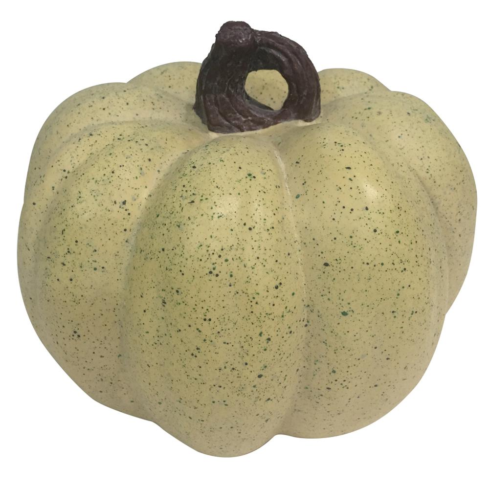 Home Accents Holiday 7.5 in. Harvest Pumpkin in Cream