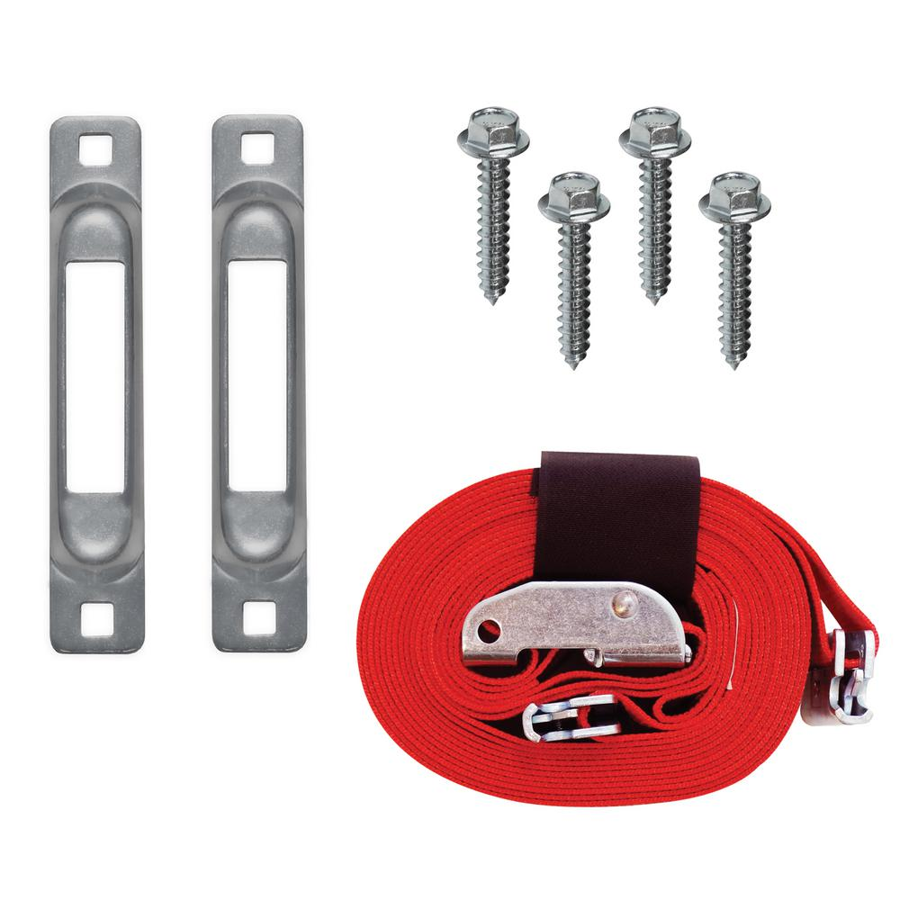 2 in. x 16 ft. Wood Dolly E-Strap Anchor Kit, with