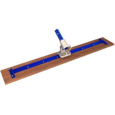 36 in. x 7-1/4 in. Square End Wood Bull Float with Rock-N-Roll Bracket