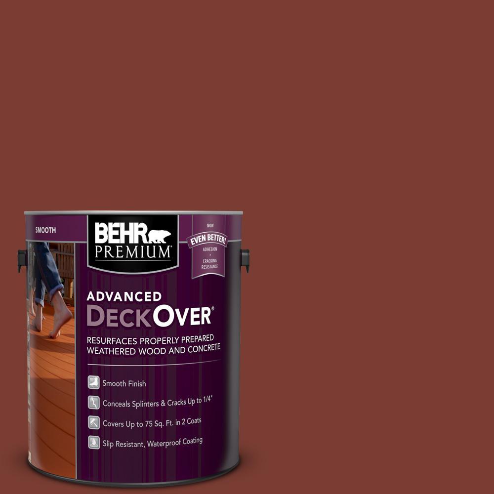 Home Depot Exterior Paint Prices: BEHR Premium Advanced DeckOver 1 Gal. #SC-330 Redwood