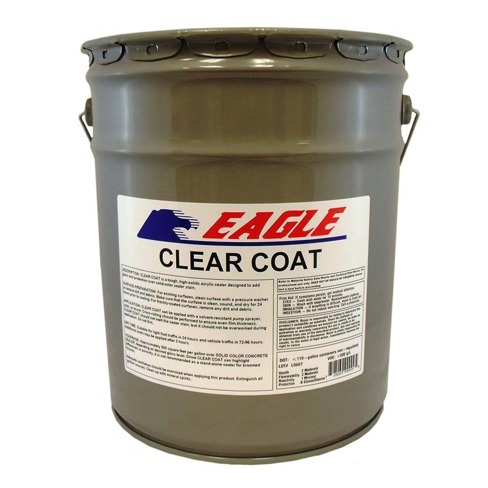 5 gal. Clear Coat High Gloss Oil-Based Acrylic Topping Over Solid
