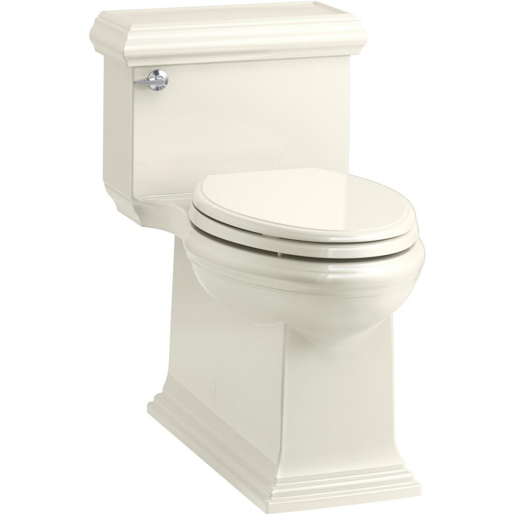 KOHLER Memoirs Classic 1-Piece 1.28 GPF Single Flush Elongated Toilet in Biscuit, Seat Included