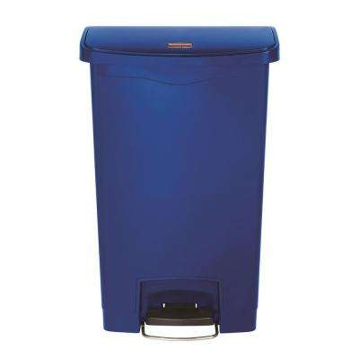 Slim Jim Step-On 13 Gal. Blue Plastic Front Step Trash Can