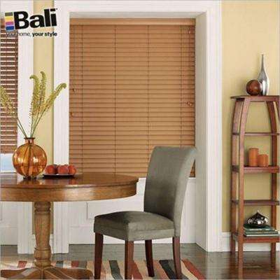 Corded White Valance Faux Wood Blinds Blinds The Home Depot