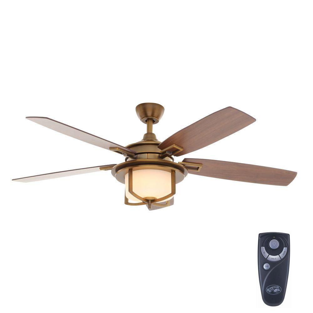 0b45299b21e Sahara Fans Tortola 52 in. Aged Brass Ceiling Fan-10054 - The Home Depot