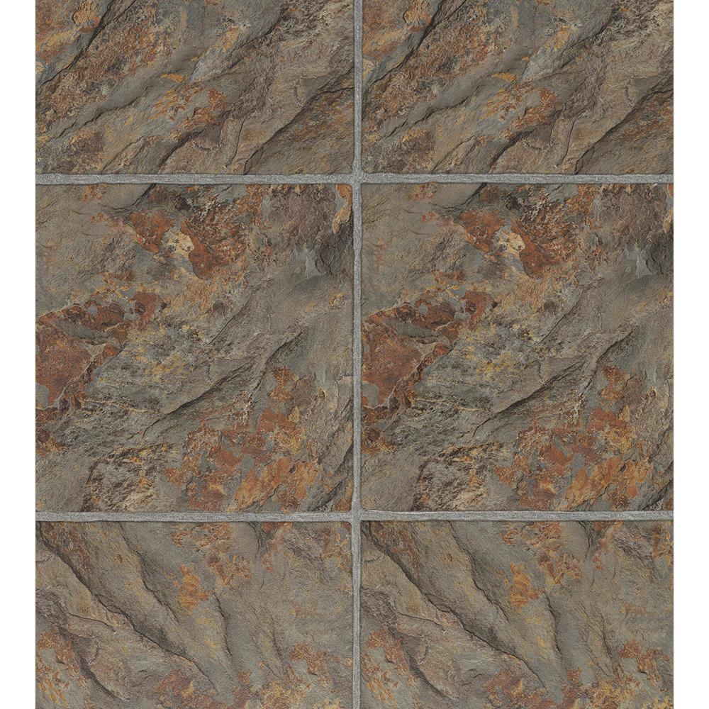 Florentine Slate 12 in. x 36.61 in. Luxury Vinyl Tile Flooring (15.26 sq. ft. / case)