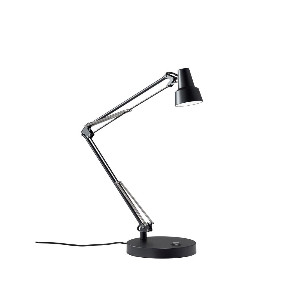 Quest 26 in. Black Quest LED Desk Lamp