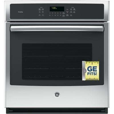 Profile 27 in. Single Electric Smart Wall Oven with Convection Self-Cleaning and Wi-Fi in Stainless Steel
