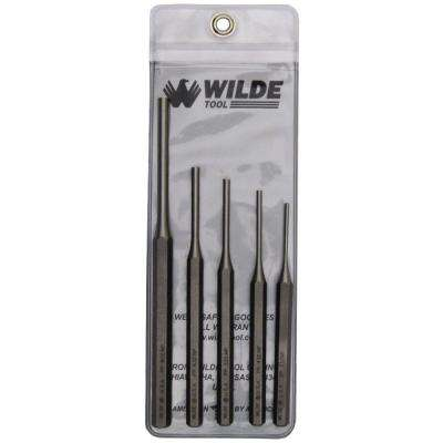 Pin Punch Set in Natural with Vinyl Pouch (5-Piece)