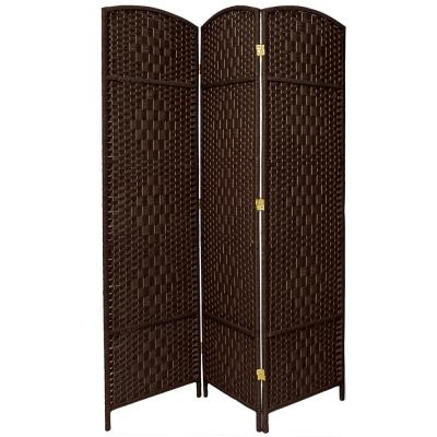 7 ft. Dark Mocha 3-Panel Room Divider