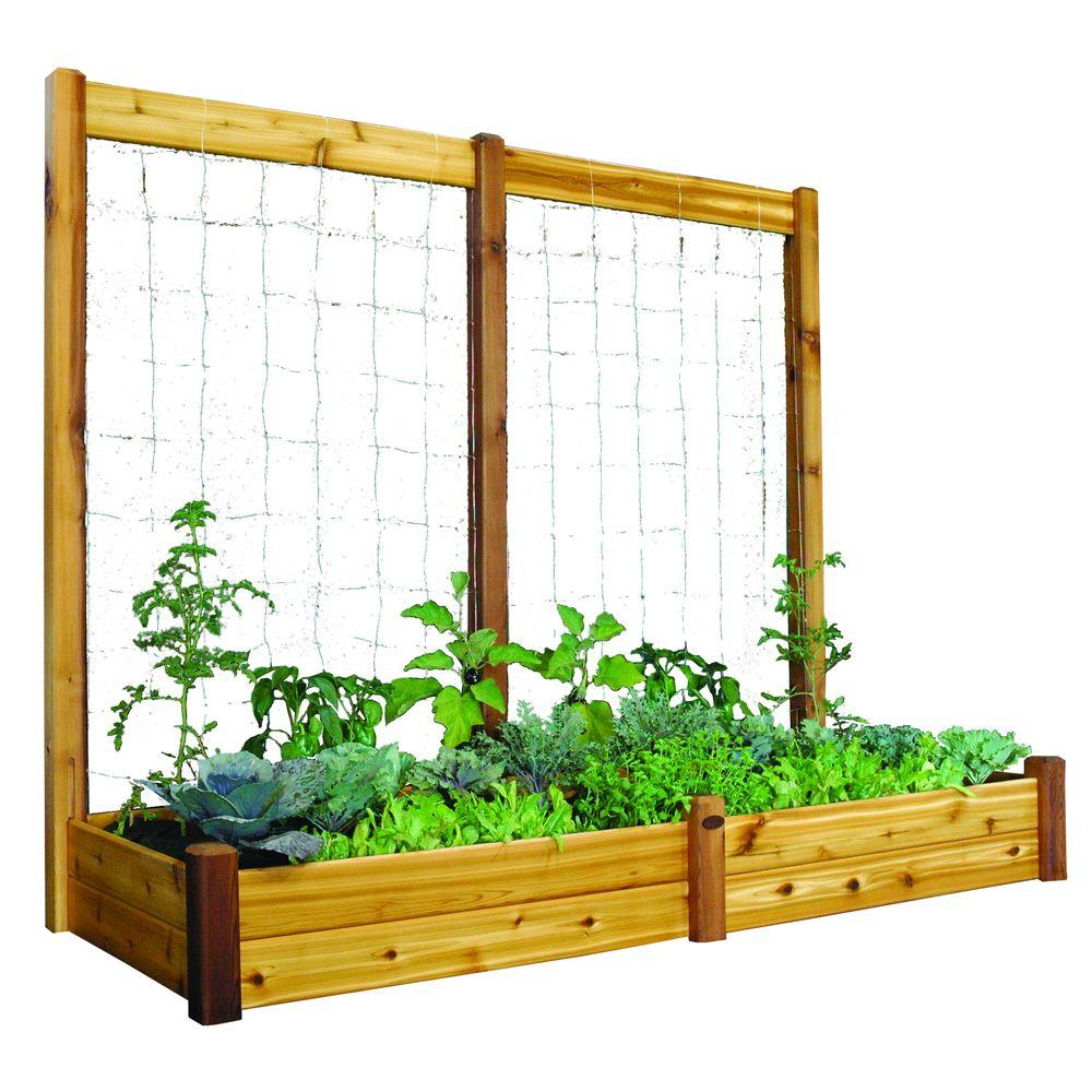 Gronomics 34 In X 95 In X 13 In Raised Garden Bed With 95 In W X 80 In H Safe Finish