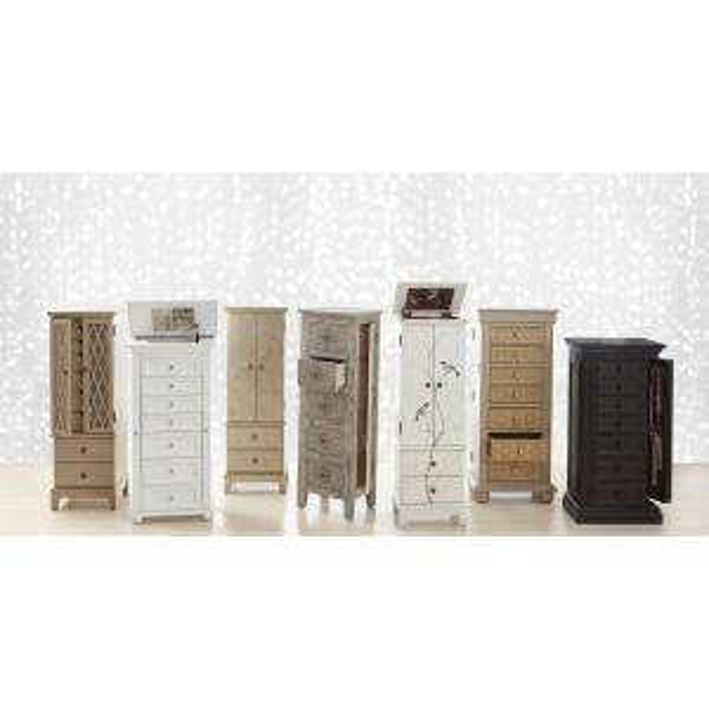 Home Decorators Collection Hampton Harbor White Jewelry Armoire 4591540410