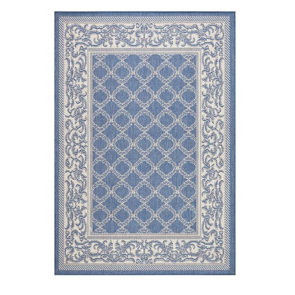 Home Decorators Collection Entwined Blue/Champagne 4 ft. x 5 ft. Area Rug