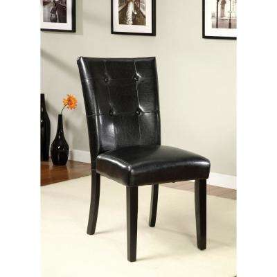 Boulder I Black Contemporary Style Parson Chair (2-Pack)
