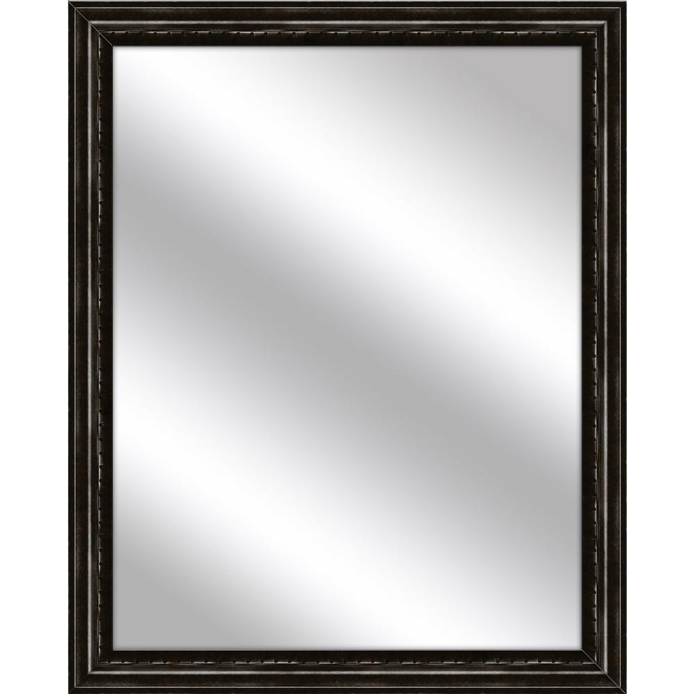 Medium Rectangle Dark Bronze Art Deco Mirror (30.75 in. H x 24.75 in. W)