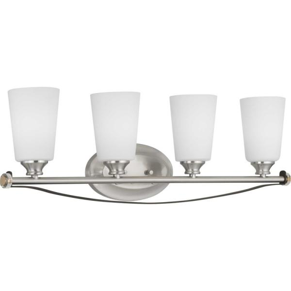 Nealy Collection 4-Light Brushed Nickel Vanity Light