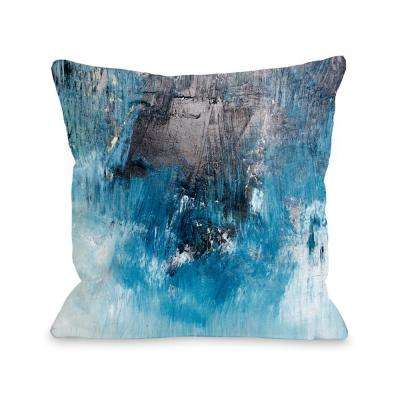 Ocean Oil Painting 16 in. x 16 in. Decorative Pillow