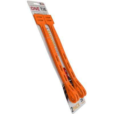 26 in. Cable Ties, Orange (2-Pack)
