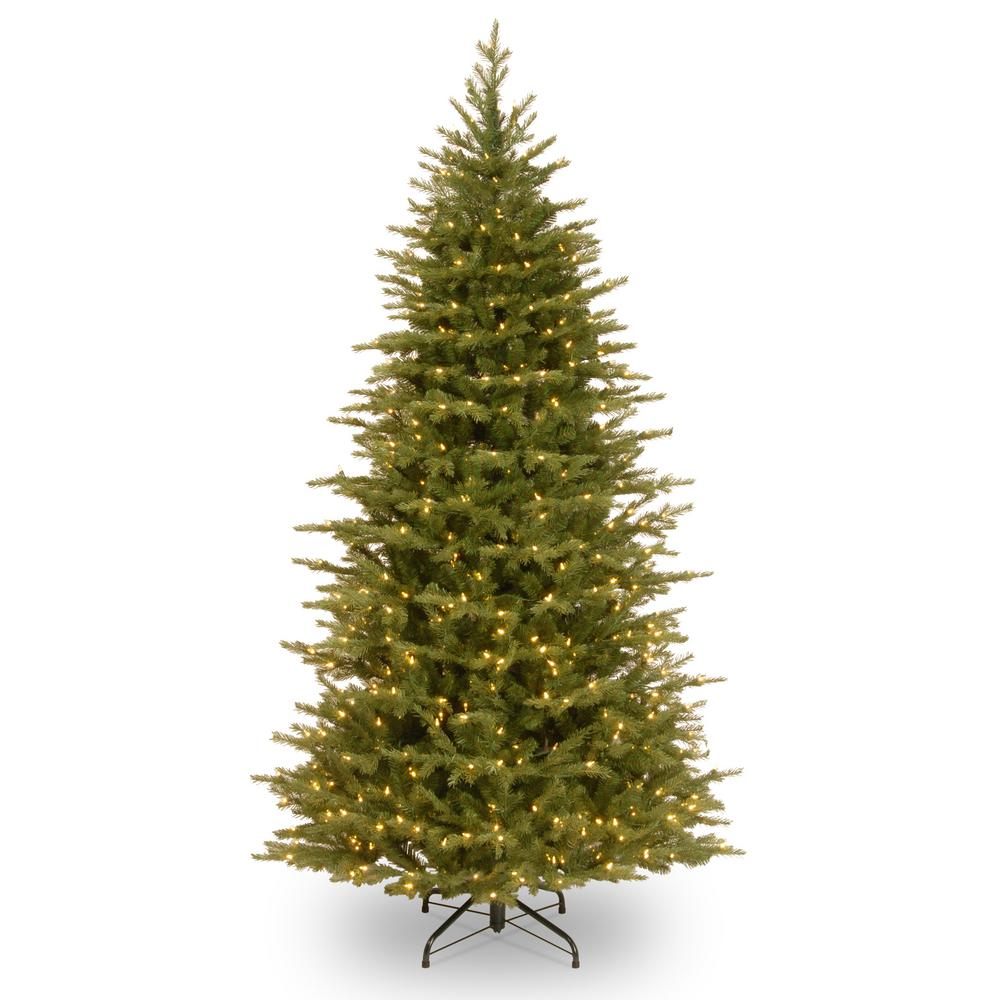 6-1/2 ft. Feel Real Nordic Spruce Slim Hinged Tree with 500