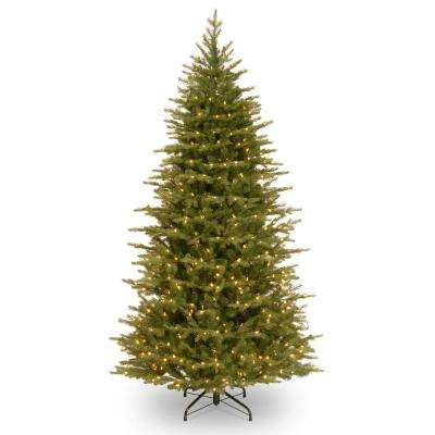 6-1/2 ft. Feel Real Nordic Spruce Slim Hinged Tree with 500 Dual Color LED Lights