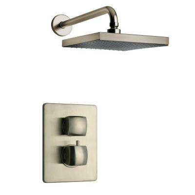 Lady Brushed Nickel Shower System 2