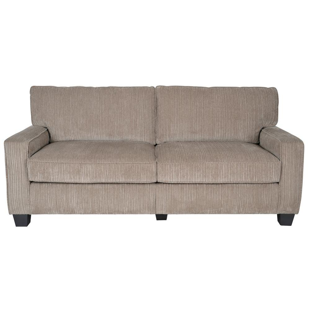 RTA Santa Cruz 73 in. Platinum Polyester 2-Seater Sofa with Removable Cushions