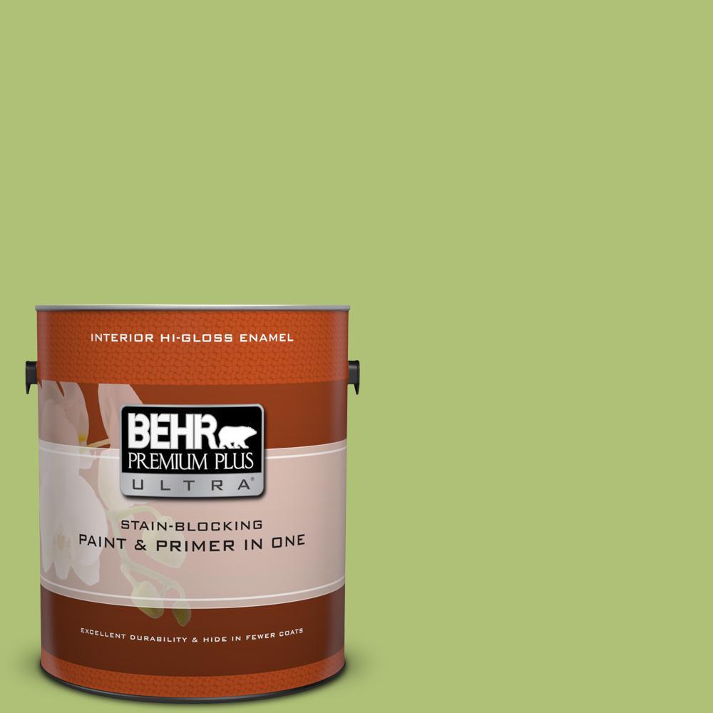 1 gal. #HDC-SM14-5 Lavish Lime Hi-Gloss Enamel Interior Paint