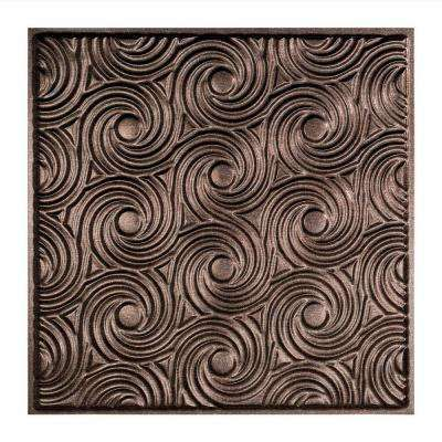 Cyclone- 2 ft. x 2 ft. Lay-in Ceiling Tile in Smoked Pewter
