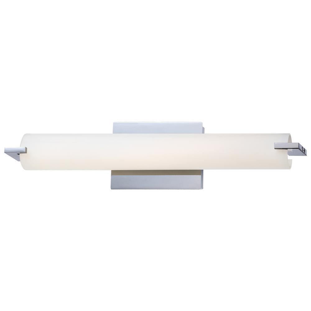 Tube 22-Watt Chrome Integrated LED Bath Wall Light