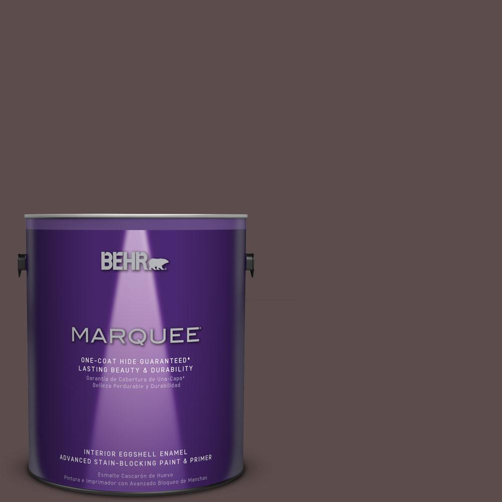 1 gal. #MQ1-43 Piano Brown One-Coat Hide Eggshell Enamel Interior Paint