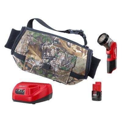 M12 12-Volt Lithium-Ion Cordless Realtree Xtra Heated Hand Warmer W/(1) 1.5Ah Battery, Charger, LED Light
