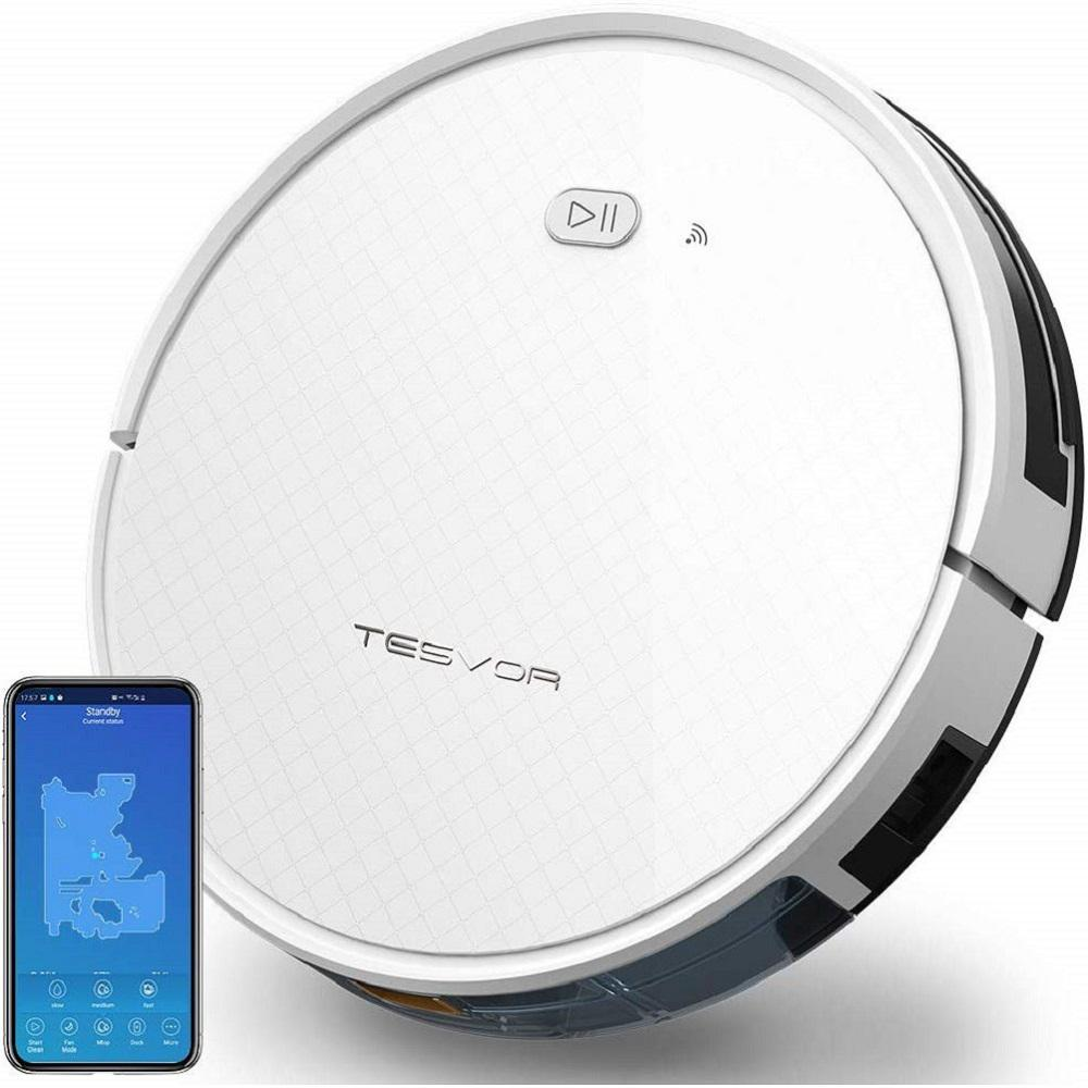 Tesvor X500 Pro Wi-Fi Connected Robot Vacuum Cleaner and Mop 1800Pa Strong Suction Self-Charging