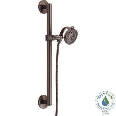 Palm Contemporary Decorative ADA 4-Spray Wall Bar Shower Kit in Venetian Bronze