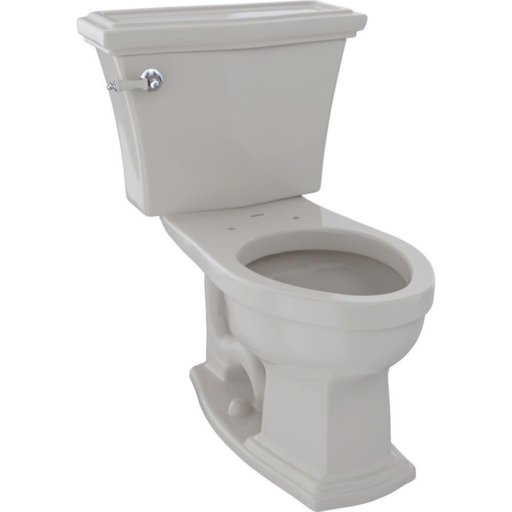Eco Clayton 2-Piece 1.28 GPF Single Flush Elongated Toilet in Sedona Beige