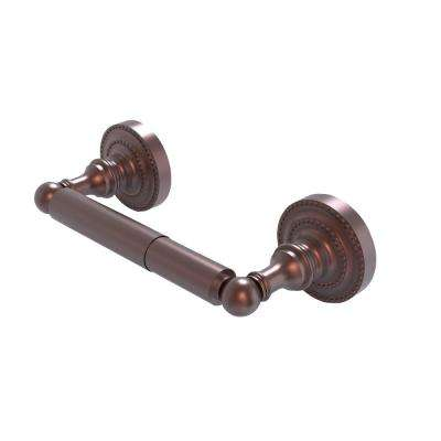 Dottingham Collection Double Post Toilet Paper Holder in Antique Copper