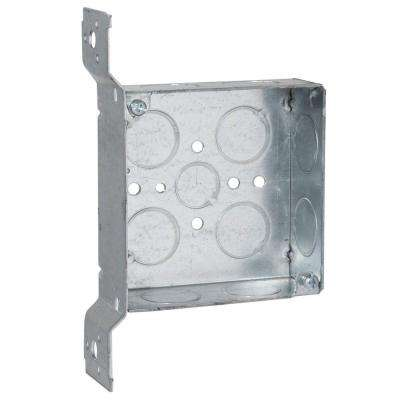 4 in. Square Box, Welded, 1-1/2 in. Deep with 1/2 & 3/4 in. TKO's and FM Bracket (25-Pack)